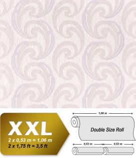Grafik Vliestapete EDEM 915-34 XXL Designer Prägetapete geschwungene abstraktes Muster flieder creme rosa 10, 65 qm