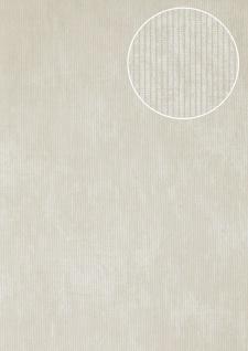 Luxus Struktur Tapete Atlas COL-563-1 Vliestapete Luxus Strukturiert Ton-in-Ton schimmernd weiß creme-weiß perl-weiß 5, 33 m2