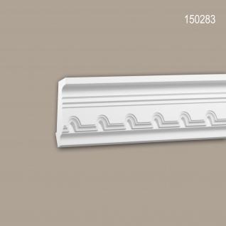 Eckleiste PROFHOME 150283 Zierleiste Stuckleiste Neo-Klassizismus-Stil weiß 2 m