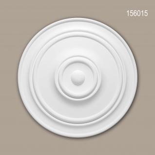 Rosette PROFHOME 156015 Zierelement Deckenelement Zeitloses Klassisches Design weiß Ø 55, 5 cm