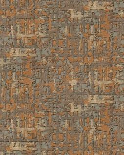 Textiloptik Tapete Profhome DE120096-DI heißgeprägte Vliestapete geprägt mit abstraktem Muster schimmernd kupfer gold beige 5, 33 m2