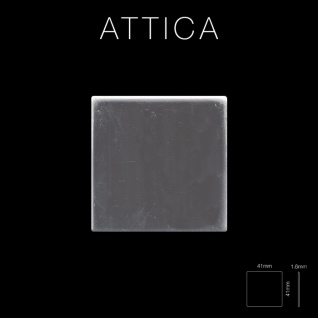 Mosaik Fliese massiv Metall Edelstahl hochglänzend in grau 1, 6mm stark ALLOY Attica-S-S-M 0, 85 m2 - Vorschau 2