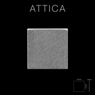Mosaik Fliese massiv Metall Edelstahl marine gebürstet in grau 1, 6mm stark ALLOY Attica-S-S-MB 0, 85 m2 - Vorschau 2