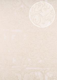 Barock Tapete ATLAS CLA-599-3 Vliestapete geprägt mit Ornamenten glänzend beige perl-weiß creme-weiß 5, 33 m2