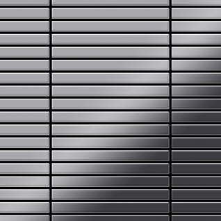 Mosaik Fliese massiv Metall Edelstahl marine hochglänzend in grau 1, 6mm stark ALLOY Linear-S-S-MM 0, 94 m2