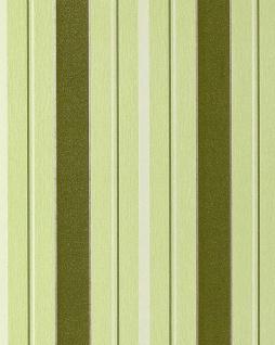 Streifen Tapete EDEM 069-25 Vinyl Designer Tapete Struktur Moosgrün hellgrün weiß silber