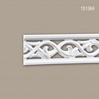 Wand- und Friesleiste PROFHOME 151364 Stuckleiste Zierleiste Friesleiste Rokoko Barock Stil weiß 2 m