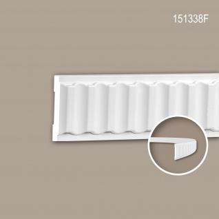 Wand- und Friesleiste PROFHOME 151338F Stuckleiste Flexible Leiste Zierleiste Neo-Klassizismus-Stil weiß 2 m