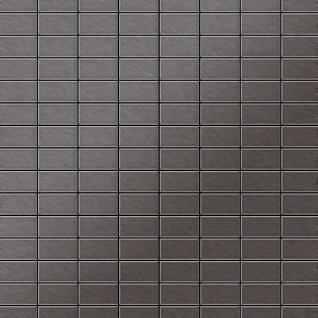 Mosaik Fliese massiv Metall Titan gebürstet in dunkelgrau 1, 6mm stark ALLOY Bauhaus-Ti-SB 1, 05 m2