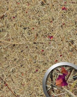 Wandverkleidung Natur Dekor WallFace AL-11003 ALPINE ROSE selbstklebende Tapete strukturiert mit echten unbehandelten alpinen Blumen und Gräsern matt braun pink 4, 026 m2