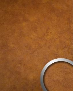 Wandverkleidung Design Platte WallFace 18589 DECO Copper Age selbstklebend Vintage Metall-Optik kupfer braun 2, 60 qm