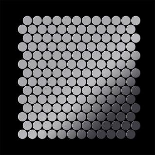Mosaik Fliese massiv Metall Edelstahl hochglänzend in grau 1, 6mm stark ALLOY Penny-S-S-M 0, 88 m2 - Vorschau 3