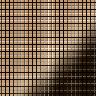 Mosaik Fliese massiv Metall Titan hochglänzend in kupfer 1, 6mm stark ALLOY Glomesh-Ti-AM 1, 07 m2
