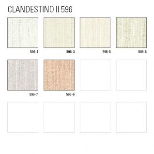 Streifen Tapete ATLAS CLA-596-5 Vliestapete glatt mit grafischem Muster glitzernd creme perl-gold weiß beige-grau 5, 33 m2 - Vorschau 4
