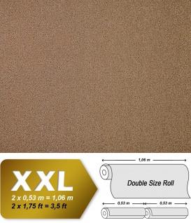 Uni Tapete Vliestapete EDEM 917-25 Tapete in XXL Hochwertige Luxus geprägte Struktur kakao-braun bronze | 10, 65 qm