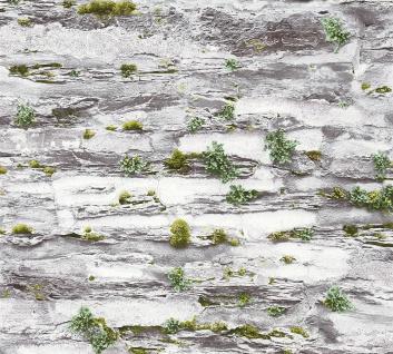 Stein Kacheln Tapete Profhome 364922-GU Vliestapete glatt in Steinoptik matt grau 5, 33 m2