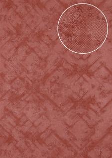Grafik Tapete Atlas SIG-581-2 Vliestapete strukturiert mit abstraktem Muster schimmernd rot rot-violett perl-rubin-rot 5, 33 m2