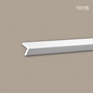 Eckleiste PROFHOME 150156 Zierleiste Stuckleiste Modernes Design weiß 2 m