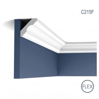 Zierleiste Orac Decor C215F LUXXUS flexible Eckleiste Deckenleiste Stuckleiste Decken Wand Leiste | 2 Meter