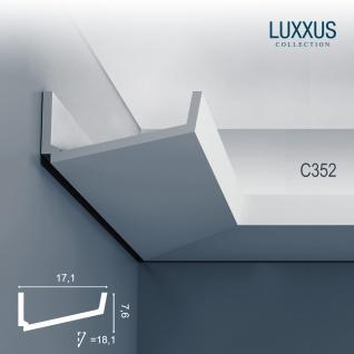Dekor Profil Orac Decor C352 LUXXUS Eckleiste Zierleiste für indirekte Beleuchtung Wand Decken Stuckprofil 2 Meter