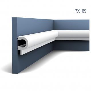 Wandleiste Zierleiste von Orac Decor PX169 AXXENT Profilleiste Friesleiste Stuckprofil Wand Rahmen Dekor Element 2 Meter