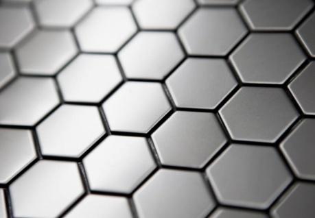 Mosaik Fliese massiv Metall Edelstahl matt in grau 1, 6mm stark ALLOY Honey-S-S-MA 0, 92 m2 - Vorschau 4
