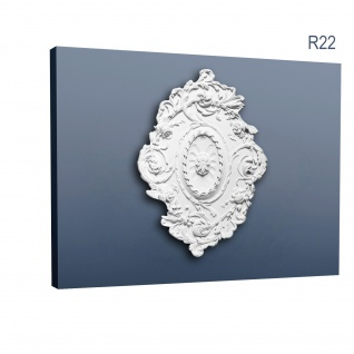 Stuckrosette Stuck Orac Decor R22 LUXXUS Rosette Zier Profil Classic antik floral wand Dekor weiß | 77 cm Durchmesser - Vorschau 1