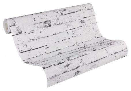 Stein Kacheln Tapete Profhome 907837-GU Vliestapete glatt in Steinoptik matt grau beige 5, 33 m2 - Vorschau 2