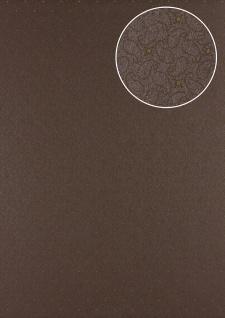 Grafik Tapete Atlas PRI-9405-4 Vliestapete glatt mit Paisley Muster schimmernd braun sepia-braun terra-braun perl-beige 5, 33 m2