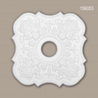 Rosette PROFHOME 156053 Zierelement Deckenelement Neo-Klassizismus-Stil weiß 52, 2 x 52, 2 cm