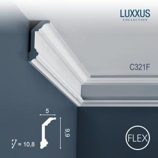 Dekor Profil Orac Decor C321F LUXXUS flexible Leiste Eckleiste Zierleiste Decken Stuck Gesims Dekorleiste | 2 Meter