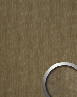 Wandpaneel Metalloptik WallFace 20194 METALLIC USED Bronze AR Wandverkleidung glatt im Used Look und mit metallischen Akzenten selbstklebend abriebfest bronze grau-braun 2, 6 m2