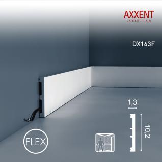 Türumrandung Orac Decor DX163F AXXENT SQUARE flexible Sockelleiste Wandleiste Modernes Design weiß 2m