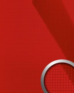 Wandverkleidung Wandpaneel WallFace 13763 M-Style Design EyeCatch Mosaik Deko selbstklebend lack-glänzend rot | 0, 96 qm