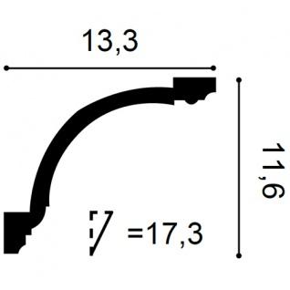 Zierleiste Orac Decor C216F LUXXUS flexible Eckleiste Stuck Profil Stuckleiste Decken Wand Leiste | 2 Meter - Vorschau 2