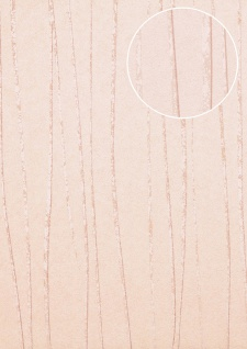 Edle Streifen Tapete Atlas COL-569-6 Vliestapete glatt Design schimmernd creme rosé 5, 33 m2