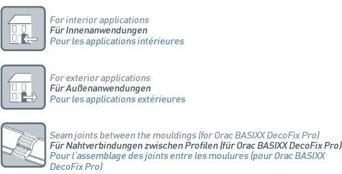 Montagekleber für Stoßstellen und Nahtverbindung innen und außen Orac Decor FX200 DecoFix Extra Kartusche 310 ml - Vorschau 2