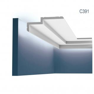 Eckleiste Orac Decor C391 MODERN STEPS Indirekte Beleuchtung Zierleiste Modernes Design weiß 2m