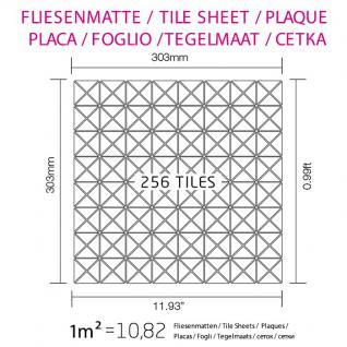 Mosaik Fliese massiv Metall Edelstahl matt in grau 1, 6mm stark ALLOY Deco-S-S-MA 1 m2 - Vorschau 4