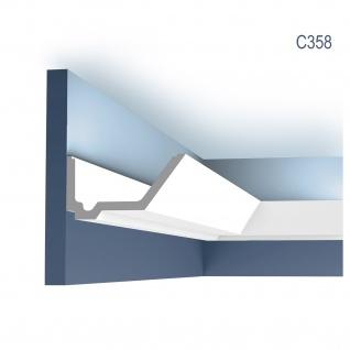 Stuck Zierleiste Orac Decor C358 LUXXUS Eckleiste für indirekte Beleuchtung gesims Deckenleiste 2 Meter