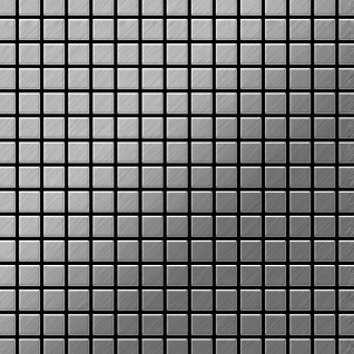 Mosaik Fliese massiv Metall Edelstahl marine gebürstet in grau 1, 6mm stark ALLOY Mosaic-S-S-MB 1, 04 m2