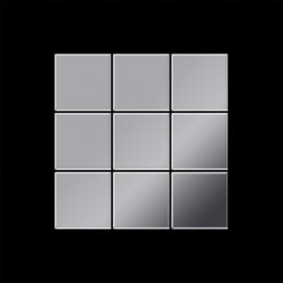 Mosaik Fliese massiv Metall Edelstahl hochglänzend in grau 1, 6mm stark ALLOY Century-S-S-M 0, 5 m2 - Vorschau 3