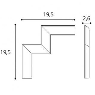 Eckelement Stuck für Friesleisten Wandleiste Orac Decor P201A LUXXUS Wand Decken Spiegel Dekor Rahmen Blätter Blumen - Vorschau 2