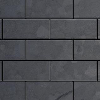 Mosaik Fliese massiv Metall Rohstahl gewalzt in grau 1, 6mm stark ALLOY Subway-RS 0, 58 m2