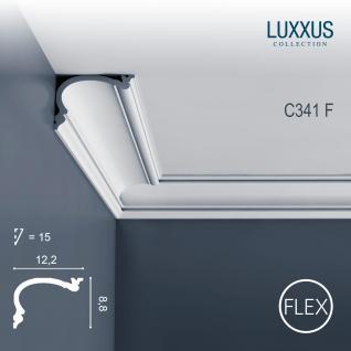 Stuck Gardinenleiste Orac Decor C341F HERITAGE M LUXXUS flexible Eckleiste Wandleiste Stuckleiste Deckenprofil 2 Meter
