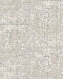 Textiloptik Tapete Profhome DE120092-DI heißgeprägte Vliestapete geprägt mit abstraktem Muster schimmernd weiß hell-grau 5, 33 m2