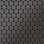 Mosaik Fliese massiv Metall Titan gebürstet in dunkelgrau 1, 6mm stark ALLOY Dollar-Ti-SB 0, 88 m2