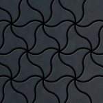 Mosaik Fliese massiv Metall Rohstahl gewalzt in grau 1, 6mm stark ALLOY Ninja-RS Designed by Karim Rashid 0, 67 m2