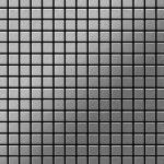 Mosaik Fliese massiv Metall Edelstahl gebürstet in grau 1, 6mm stark ALLOY Mosaic-S-S-B 1, 04 m2
