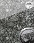 Wandverkleidung abriebfest selbstklebend WallFace 17013 YOUKON Wandpaneel Glas-Optik Marmorstein schwarz grau | 2, 60 qm
